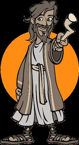 Jesus pointing