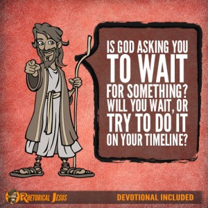 Is God asking you to wait for something? Will you wait, or try to do it on your timeline?