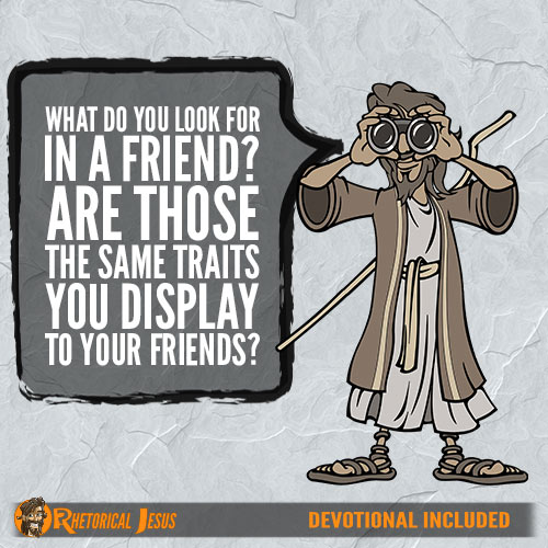 What do you look for in a friend? Are those the same traits you display to your friends?
